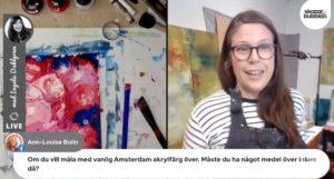 Ateljehäng online livemåleri med Ingela